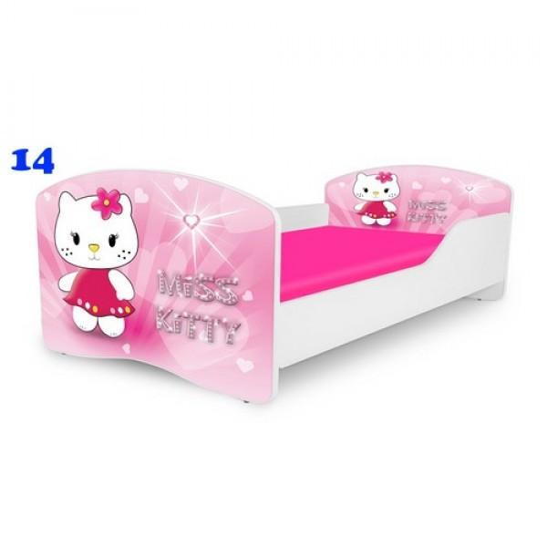 NOBIKO gulta meitenei ar matraci Miss Kitty stāsts