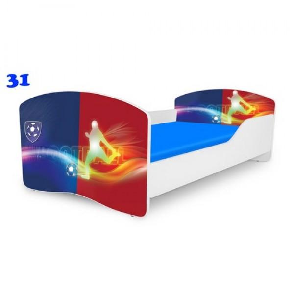 NOBIKO  pusaudžu gultas ar matraci Rainbow Sport
