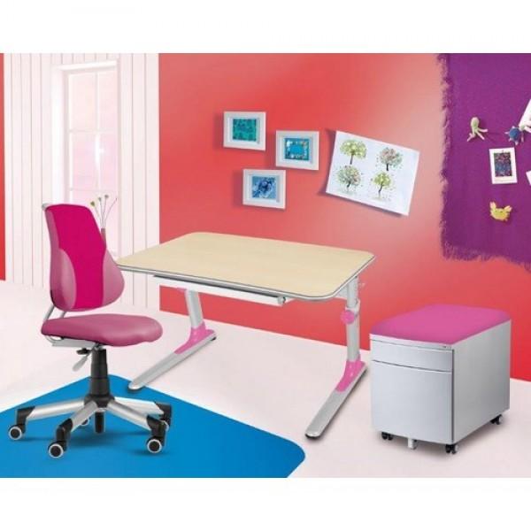 Regulējams skolas galds  Profi Junior ar ergonomisku krēslu no eko ādas