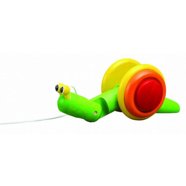 PlanToys 5108 velkamā koka rotaļlieta gliemezis