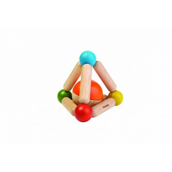 PlanToys 5244 Koka grabulīs zīdaiņiem  Trijstūris