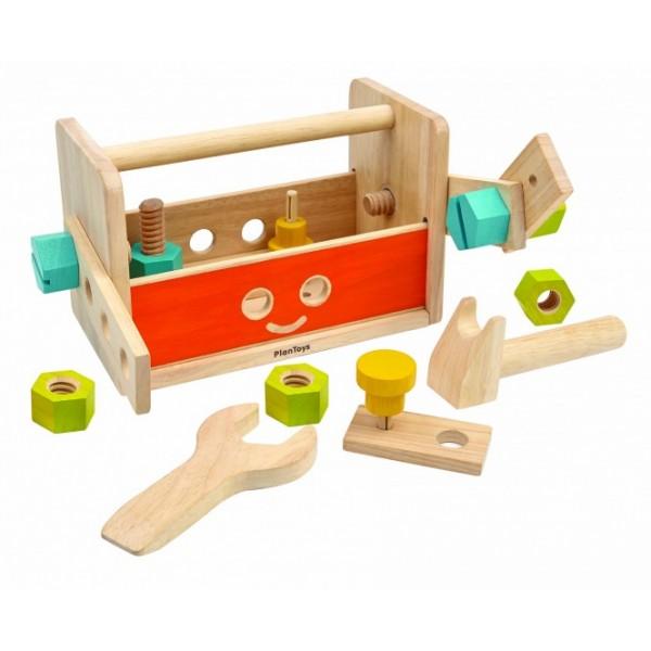 PlanToys  5540 koka instrumentu kaste ar instrumentiem - robots