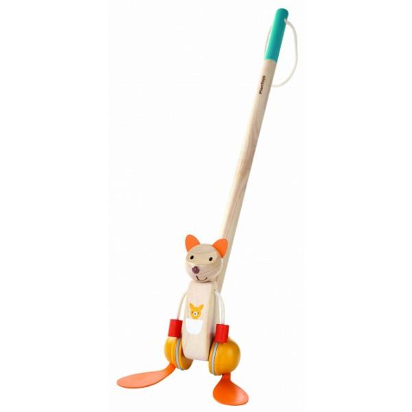 PlanToys 5700 koka stumjamas rotaļlietas ķengurs