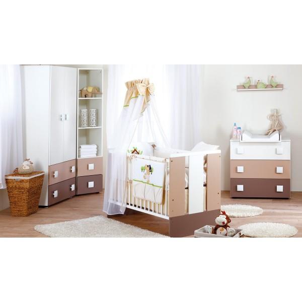 Klups bērnu istabas mēbeļu komplekts Paula Latte