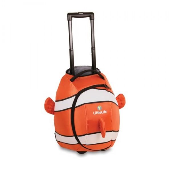 LittleLife Bērnu koferis ar ritentiņiem dzīvnieks Wheelie Duffle Clounfish