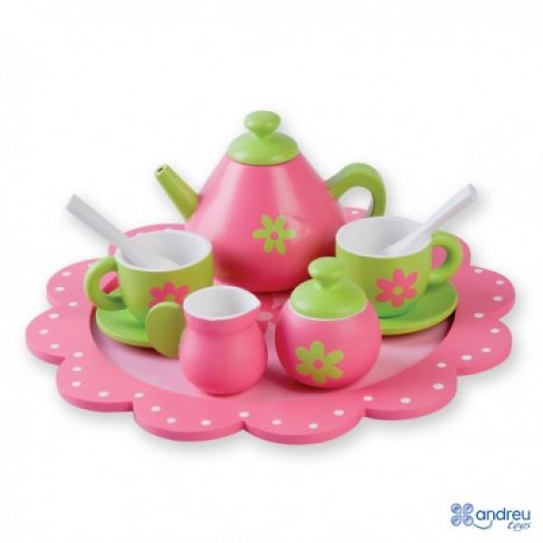 Andreu toys Koka tējas komplekts