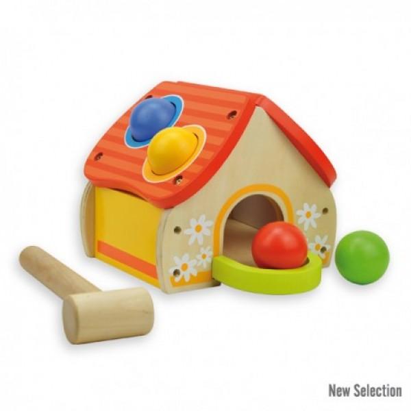Andreu toys Koka māja ar āmuru 18 mēn.+