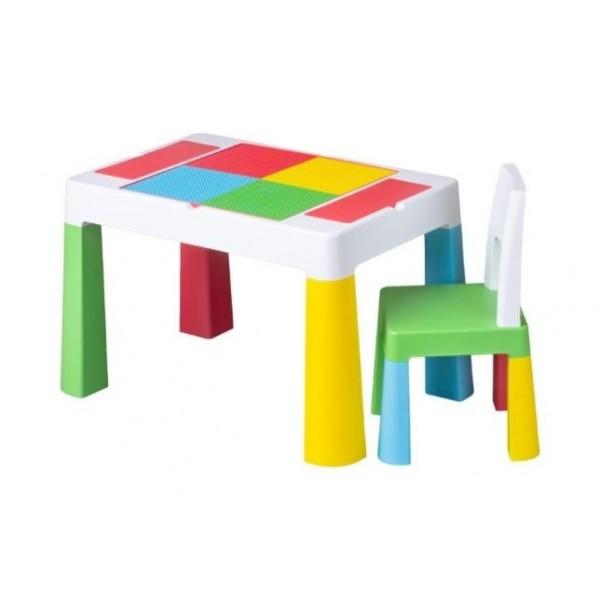 TEGA BABY Komplekts Multifun (Galds + 1 krēsls)multicolor
