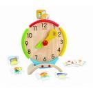 PlanToys 5122 rotaļlietu pulkstenis ar kartēm