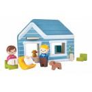 PlanToys 6617 Koka attīstošā rotaļlieta Māja