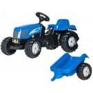 Rolly Toys Kid New Holland vaikiškas traktorius su priekaba