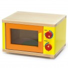 VIGA Toys medinė žaislinė mikrobangė krosnelė