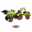 Falk Class didelis traktorius su priekaba ir ekskavatoriumi