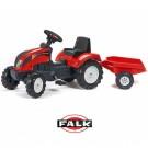 FALK traktorius Ranch su priekaba, raudonas