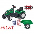 Falk RANCH traktorius su priekaba, žalias