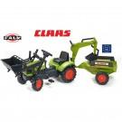 FALK CLAAS Arion žaliasis traktorius - krautuvas- ekskavatorius su priekaba nuotrauka nr.1