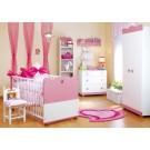 Klups bērnu istabas mēbeļu komplekts Princese (KSNIEZNICKA)