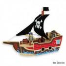 Andreu toys Koka pirātu kuģis 3+