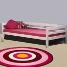 MINI Bērnu gulta 200 cm, atpakaļ rāmis, white wash