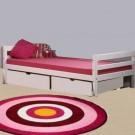 Mini gulta berniem 200 cm, whitewash, ar atvilktne