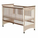 DREWEX bērnu gultiņa  MOCCA, ar nolaižamu sānu