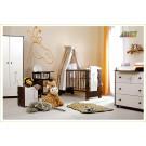 Klups bērnu istabas mēbeļu komplekts,  valriekstu krāsā