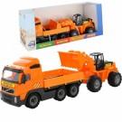 Wader sunkvežimis VOLVO + buldozeris nuotrauka nr.1