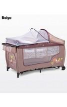 CARETERO Grande Plus Ceļojumu gultiņa, pārtinamā virsma, paaugstinātais stāvs zīdaiņiem