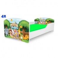 NOBIKO Pusaudžu gulta 140-180 cm un porolona matracis Rainbow Film heroes