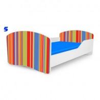 NOBIKO bērnu gulta ar matraci Rainbow Stripes