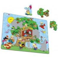 Larsen puzzle koks māja Maxi