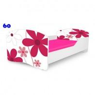 NOBIKO Pusaudžu gulta 140-180 cm un porolona matracis Rainbow Flowers