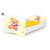 NOBIKO bērnu gulta ar matraci Rainbow Mans draugs