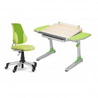 Regulējams skolas galds  Profi 3 ar ergonomisku krēslu no eko ādas