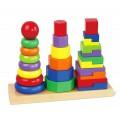 Viga Toys Geometrinė rūšiavimo dėlionė