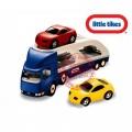 Little tikes didelis žaislinis automobilių tralas + 2 automobiliukai nuotrauka nr.1