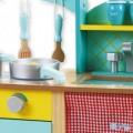 Andreu toys 1428 Zilā Koka virtuvīte
